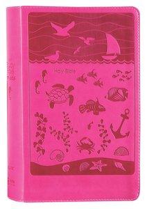 NIRV Study Bible For Kids Pink Ocean (Black Letter Edition)