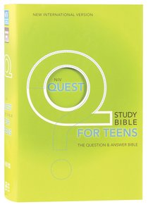 NIV Quest Study Teen Bible (Black Letter Edition)