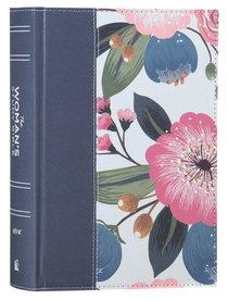 NIV Womans Study Bible Blue Floral Full-Color