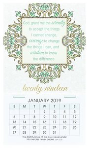2019 Mini Magnetic Calendar: God Grant Me the Serenity....