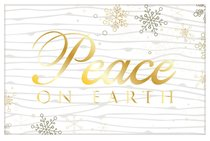 Christmas Pass-Around Cards: Peace on Earth Gold Snowflake (25 Pack)