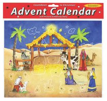 Advent Calendar With Stickers: Starlit Stable