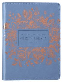 Classic Journal: Strength & Dignity, Navy/Rose Gold Etching