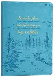 2019 Executive 12-Month Diary/Planner: I Know the Plans, Teal