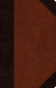 ESV Large Print Personal Size Bible Brown/Cordovan Portfolio Design (Red Letter Edition)