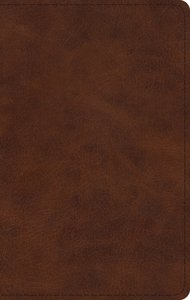ESV Large Print Thinline Bible Deep Brown