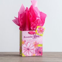 Gift Bag Small: Beautiful You Birthday (Incl Tissue Paper & Gift Tag)