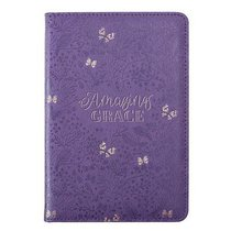 Bible Study Kits: Amazing Grace, Purple/Gold Butterflies Luxleather Folder