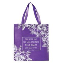 Tote Bag: This is the Day the Lord Has Made....Purple/White Flowers (118:24)