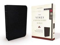 NKJV Vines Expository Bible Black (Red Letter Edition)