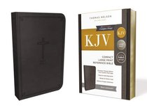 KJV Reference Bible Compact Large Print Black (Red Letter Edition)
