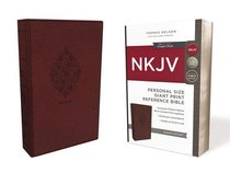 NKJV Reference Bible Personal Size Giant Print Burgundy (Red Letter Edition)