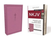 NKJV Reference Bible Personal Size Giant Print Pink (Red Letter Edition)