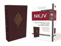 NKJV Deluxe Reference Bible Personal Size Giant Print Burgundy Indexed (Red Letter Edition)