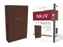 NKJV Deluxe Reference Bible Super Giant Print Brown (Red Letter Edition)