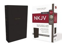 NKJV Deluxe Reference Bible Compact Large Print Black (Red Letter Edition)