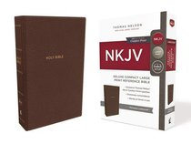 NKJV Deluxe Reference Bible Compact Large Print Brown (Red Letter Edition)