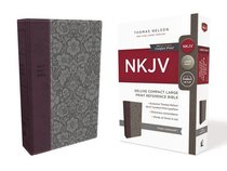 NKJV Deluxe Reference Bible Compact Large Print Purple (Red Letter Edition)