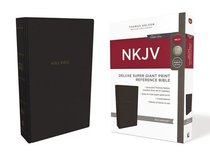 NKJV Deluxe Reference Bible Super Giant Print Black (Red Letter Edition)