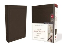 NKJV Journal the Word Bible Brown (Red Letter Edition)