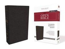 NKJV Open Bible Black (Red Letter Edition)
