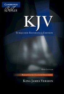 KJV Turquoise Reference Bible Black (Red Letter Edition)