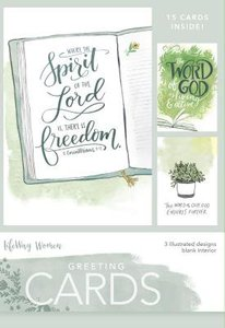 Boxed Cards Blank: Spirit of the Lord, 15 Cards and Envelopes, 3 Designs