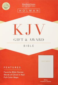 KJV Gift Award Bible White
