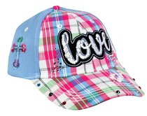 Cap: Love One Another, Blue/Patchwork Pattern (John 13:34)
