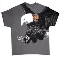 T-Shirt Eagle: Large Grey (Isaiah 40:31)