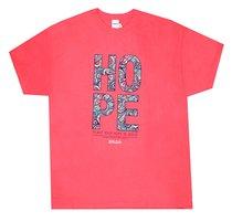 Womens T-Shirt: Hope Paisley 3xlarge Orange Coloured Pattern (Jer 29:11)
