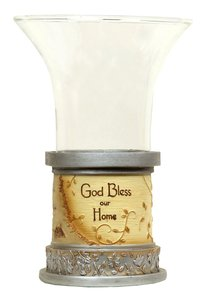 Tea Candle: God Bless Our Home