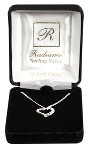 Necklace: Sterling Silver Heart With Cross on 45Cm Sterling Silver Chain