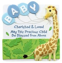 Cherished Blessings Plaque: Boy, May This Precious Child Be Blessed From Above