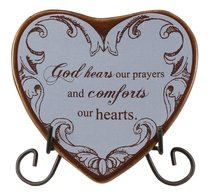 Plaque Heart to Heart: God Hears Our Prayers...Blue
