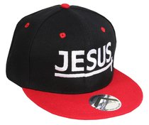 Snapback Cap: Jesus Red/Black