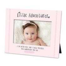 Frame Little Adventurer: I Am With You and I Will Protect You, Pink (Genesis 28:15)
