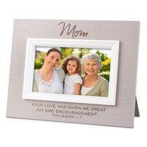 Mdf Textured Frame: Blessings Mum, Cream (Philemon 1:7)