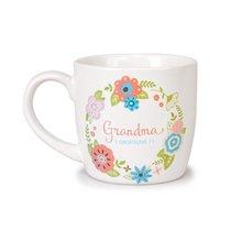 Ceramic Mug Flowers For You: Grandma, Gladness Floral Pattern (2 Cor 7:4)