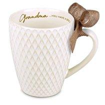 Ceramic Textured Mug: Blessings Grandma, Cream (Phil 1:7)