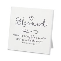 Mdf Plaque: Baby Blessed, White (Numbers 6:24)