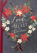 Christmas - Love is At the Heart of Christmas, Love Heart Floral Wreath
