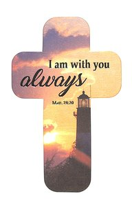 Bookmark Cross-Shaped: I Am With You Always, Lighthouse