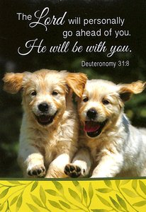 Notepad: The Lord Will Personally Go Ahead of You (Puppies Running)