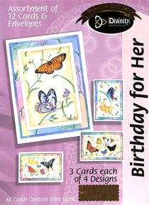 Boxed Cards Birthday For Her: Butterflies