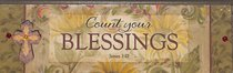Plaque Simple Harmony: Count Your Blessings (James 1:17)