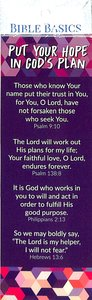 Bible Basics Bookmark: Put Your Hope in Gods Plan (10 Pack)