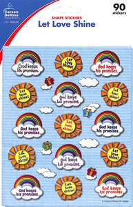 Sticker Pack: Let Love Shine Shape Stickers