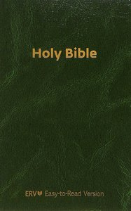 ERV Holy Bible Flexcover Green