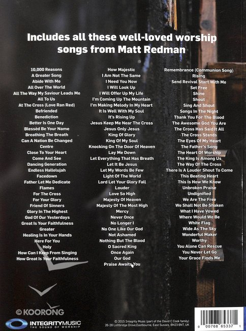 100 Songs From Matt Redman Songbook